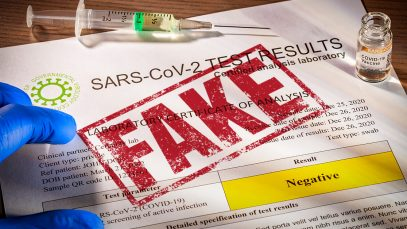 certificate covid false