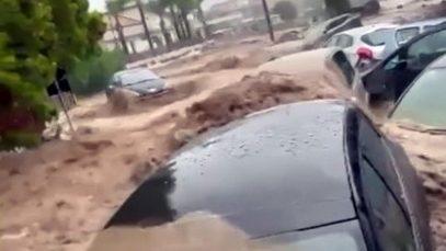 masini inundatii italia