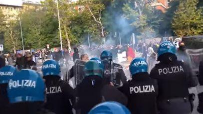 politie no green pass Trieste